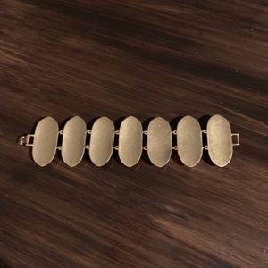 J. Crew Jewelry - J.Crew Bracelet - Gold w/ Black & Clear Gemstone